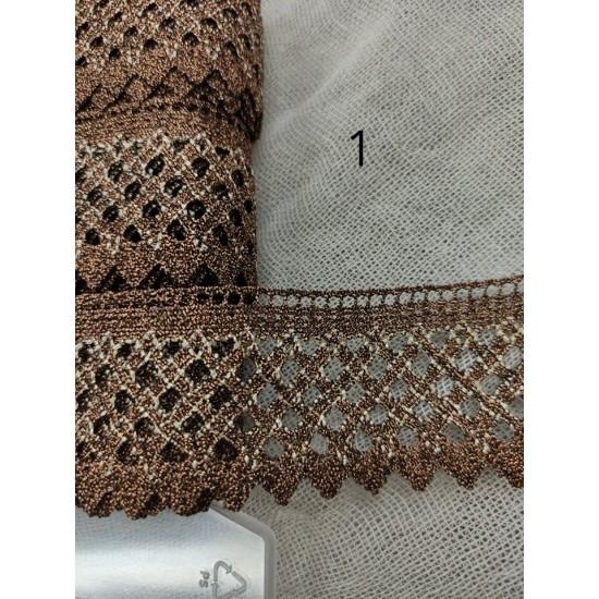 Δαντέλα κεντήματος Φ 3,5 cm σε 2 χρώματα ()