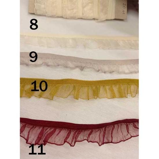 τρέσα οργαντίνα πλίσε 2cm σε 11 χρώματα (62565)