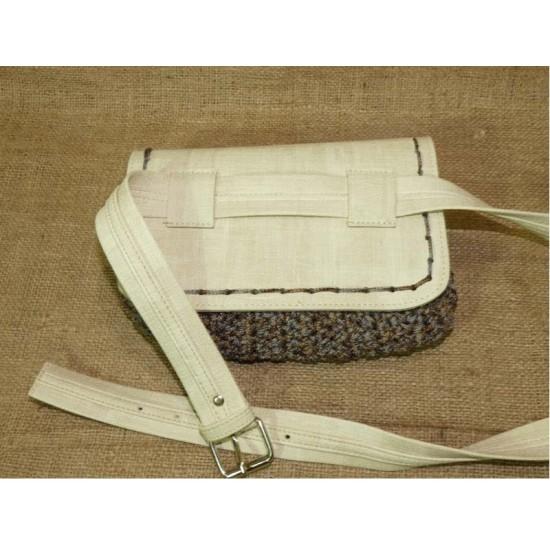 Handmade πλεκτό belt bag (42350)